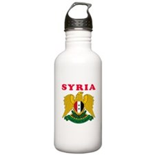 Syria Coat Of Arms Designs Water Bottle