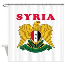 Syria Coat Of Arms Designs Shower Curtain