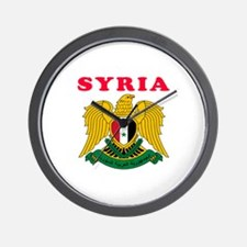 Syria Coat Of Arms Designs Wall Clock