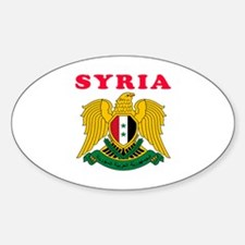 Syria Coat Of Arms Designs Sticker (Oval)