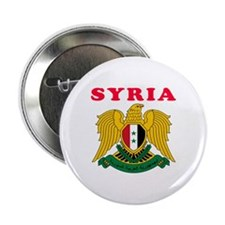"""Syria Coat Of Arms Designs 2.25"""" Button"""