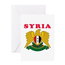 Syria Coat Of Arms Designs Greeting Card