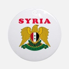 Syria Coat Of Arms Designs Ornament (Round)