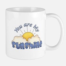Blue Text You Are My Sunshine Mug