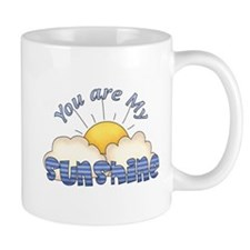 Blue Text You Are My Sunshine Mug