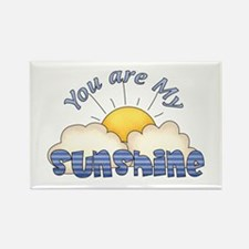 Blue Text You Are My Sunshine Rectangle Magnet