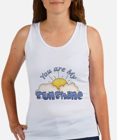 Blue Text You Are My Sunshine Tank Top