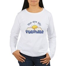 Blue Text You Are My Sunshine Long Sleeve T-Shirt