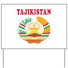 Tajikistan Coat Of Arms Designs Yard Sign