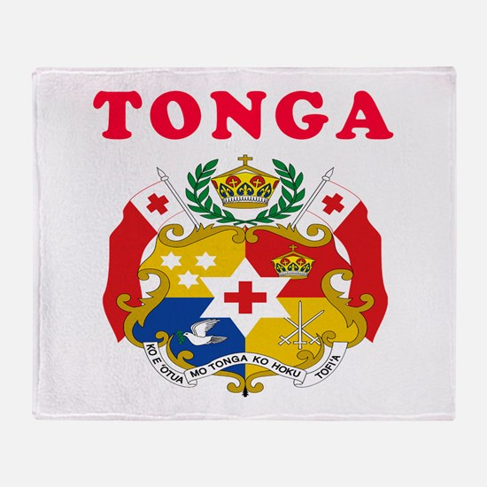Tonga Coat Of Arms Designs Throw Blanket
