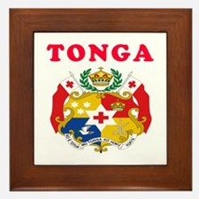 Tonga Coat Of Arms Designs Framed Tile
