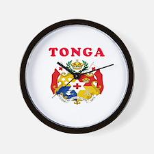 Tonga Coat Of Arms Designs Wall Clock