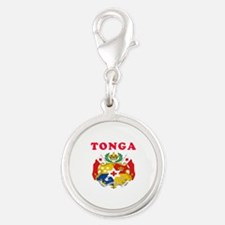Tonga Coat Of Arms Designs Silver Round Charm