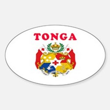 Tonga Coat Of Arms Designs Sticker (Oval)