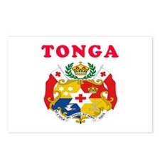 Tonga Coat Of Arms Designs Postcards (Package of 8