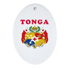 Tonga Coat Of Arms Designs Ornament (Oval)