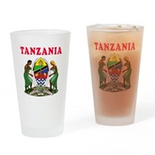 Tanzania Coat Of Arms Designs Drinking Glass