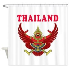 Thailand Coat Of Arms Designs Shower Curtain