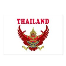 Thailand Coat Of Arms Designs Postcards (Package o