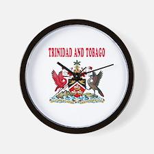 Trinidad and Tobago Coat Of Arms Designs Wall Cloc