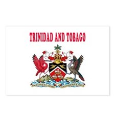 Trinidad and Tobago Coat Of Arms Designs Postcards