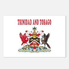 Trinidad and Tobago Coat Of Arms Designs Postcards