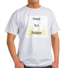 Owned by a Peekapoo Ash Grey T-Shirt