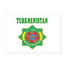 Turkmenistan Coat Of Arms Designs Postcards (Packa