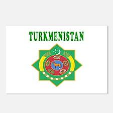 Turkmenistan Coat Of Arms Designs Postcards (Packa