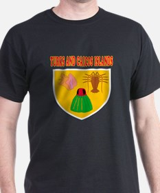 Turks and Caicos Islands Coat Of Arms Designs T-Shirt