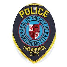 OK City Police Oval Ornament