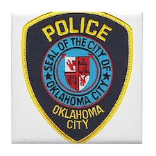 OK City Police Tile Coaster