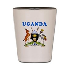 Uganda Coat Of Arms Designs Shot Glass