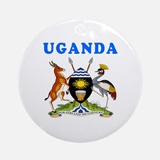 Uganda Coat Of Arms Designs Ornament (Round)