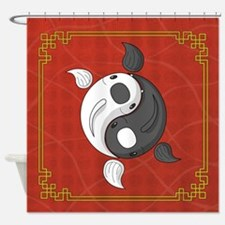 Yin and Yang Shower Curtain