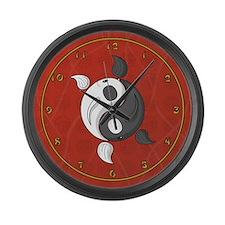 Yin and Yang Large Wall Clock