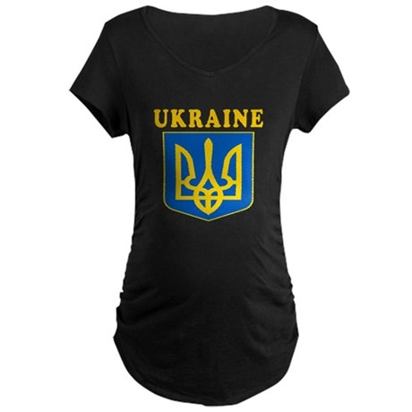Ukraine Coat Of Arms Designs Maternity Dark T-Shir