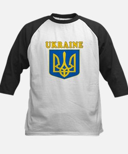 Ukraine Coat Of Arms Designs Kids Baseball Jersey