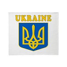 Ukraine Coat Of Arms Designs Throw Blanket