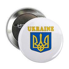 "Ukraine Coat Of Arms Designs 2.25"" Button"