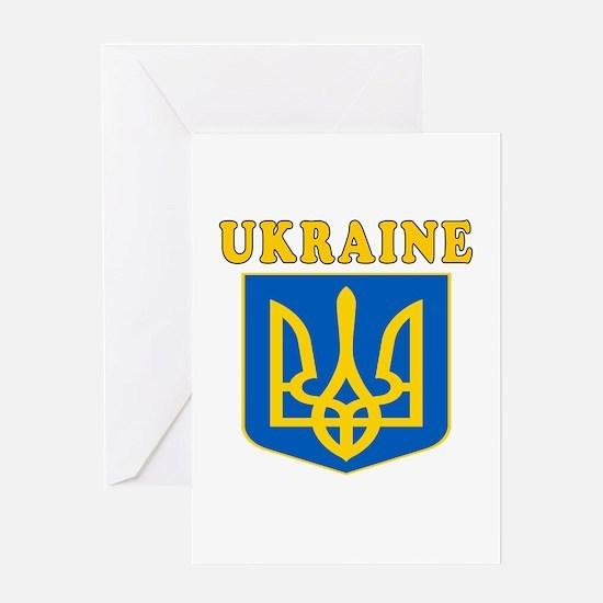 Ukraine Coat Of Arms Designs Greeting Card