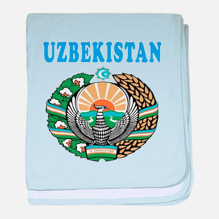 Uzbekistan Coat Of Arms Designs baby blanket