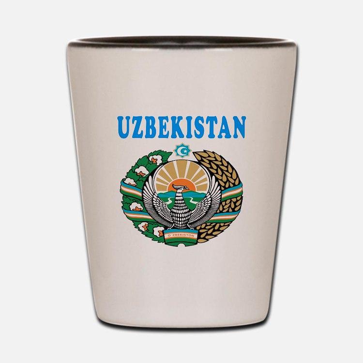 Uzbekistan Coat Of Arms Designs Shot Glass