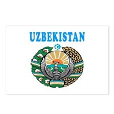 Uzbekistan Coat Of Arms Designs Postcards (Package