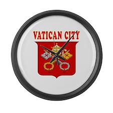 Vatican City Coat Of Arms Designs Large Wall Clock
