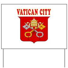 Vatican City Coat Of Arms Designs Yard Sign