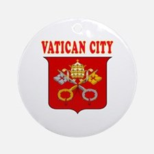 Vatican City Coat Of Arms Designs Ornament (Round)