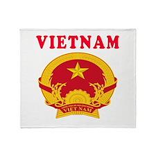Vietnam Coat Of Arms Designs Throw Blanket