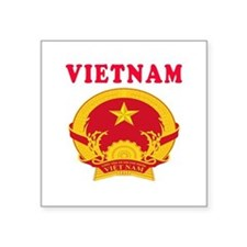 "Vietnam Coat Of Arms Designs Square Sticker 3"" x 3"