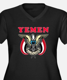 Yemen Coat Of Arms Designs Women's Plus Size V-Nec